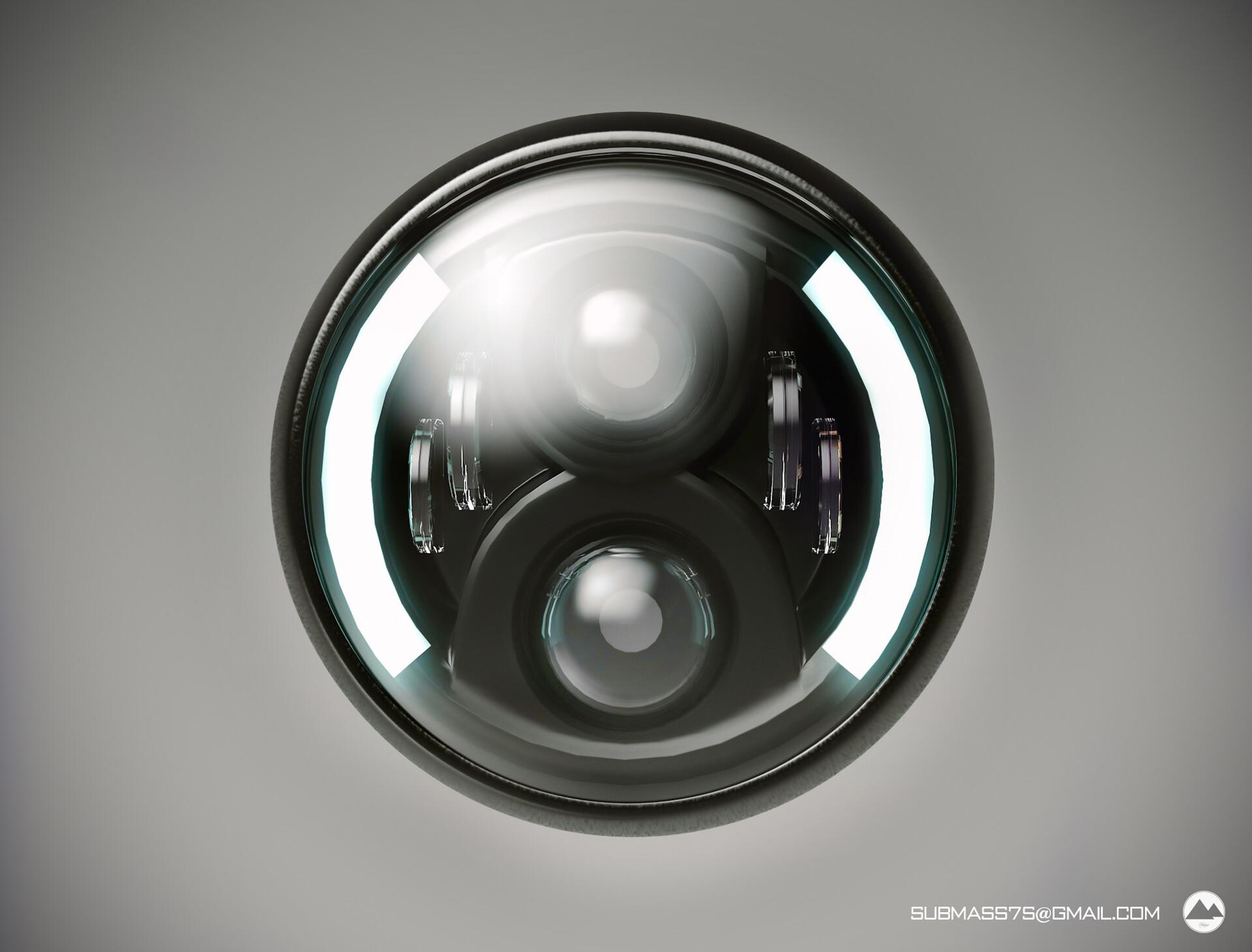7 inch led headlight, Сергей Миронов - ArtStation