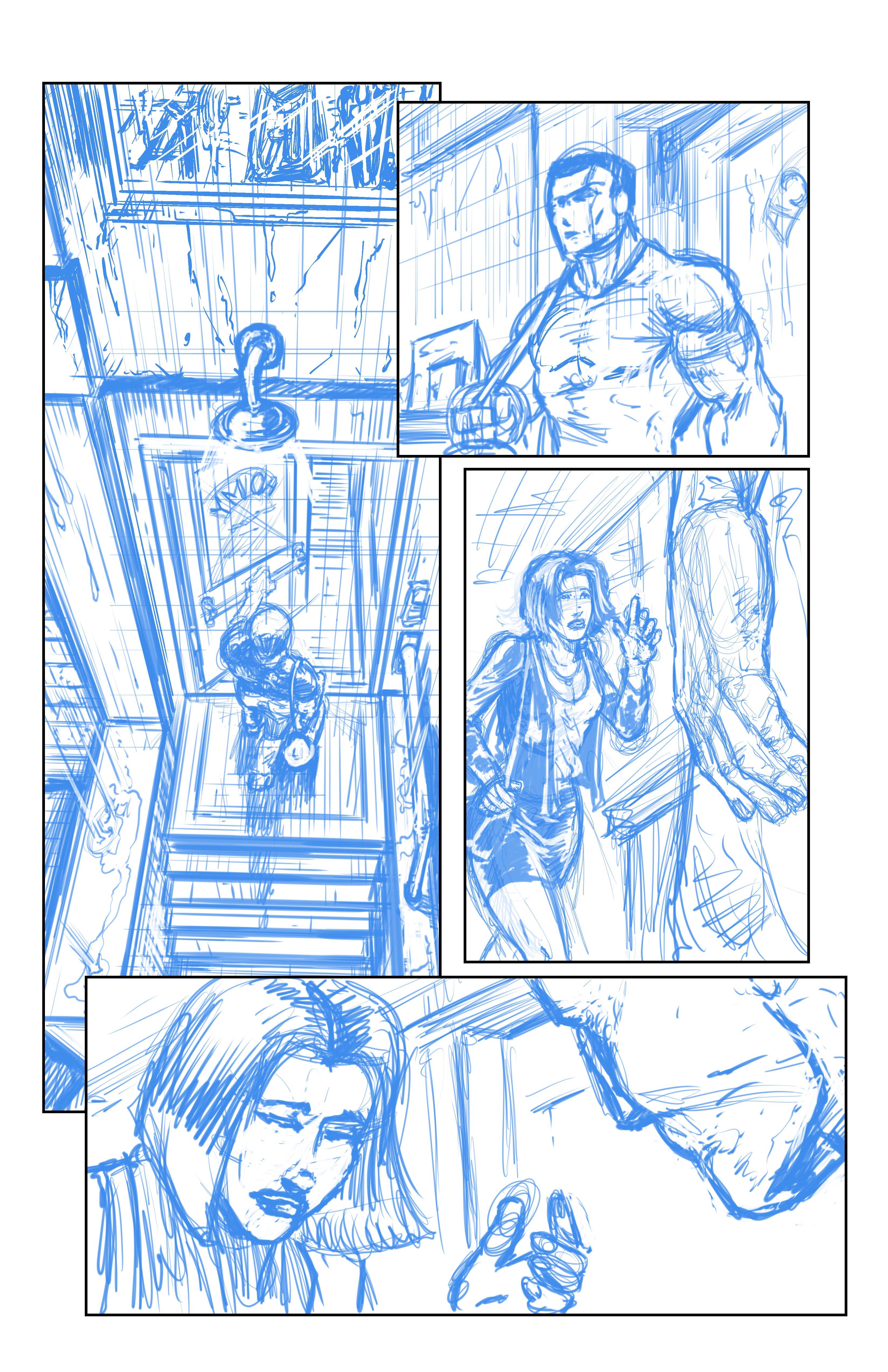 Johnny Saturn: Spiral City Noir, pg5 (Breakdowns)