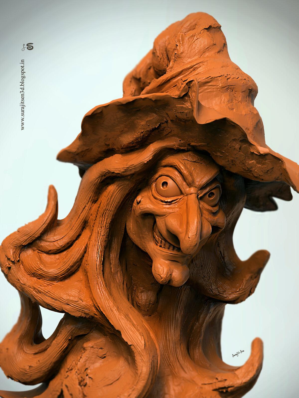 #doodle #quicksculpt #study #witchsculpture...one of my speed Digital sculpt study.