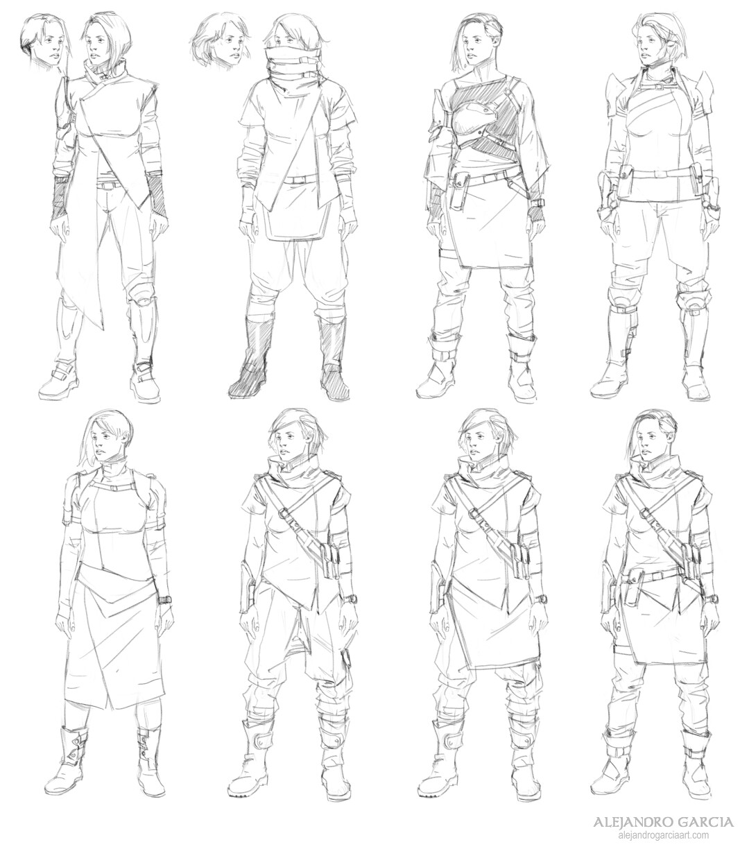 [EXO: Mankind Reborn] - Claire and Mel Concepts