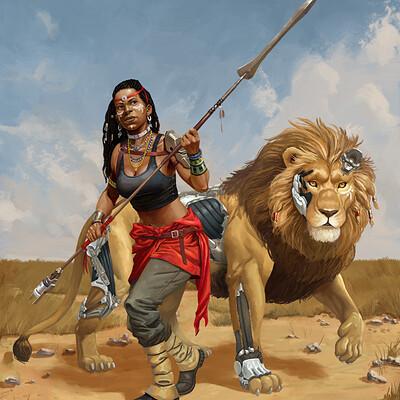 Alejandro garcia cazadora y leon b