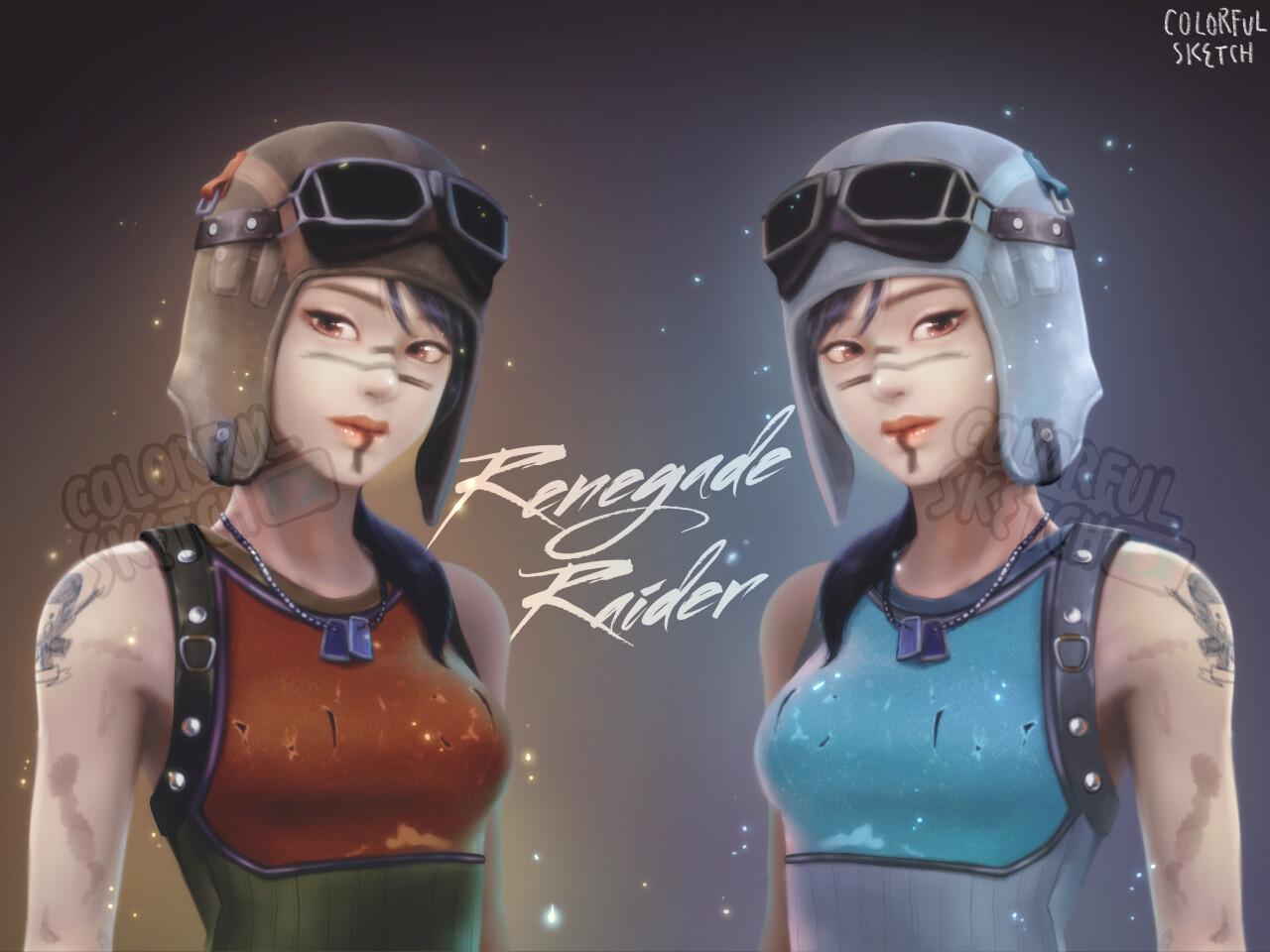 Artstation Renegade Raider Fortnite Jennie Lee