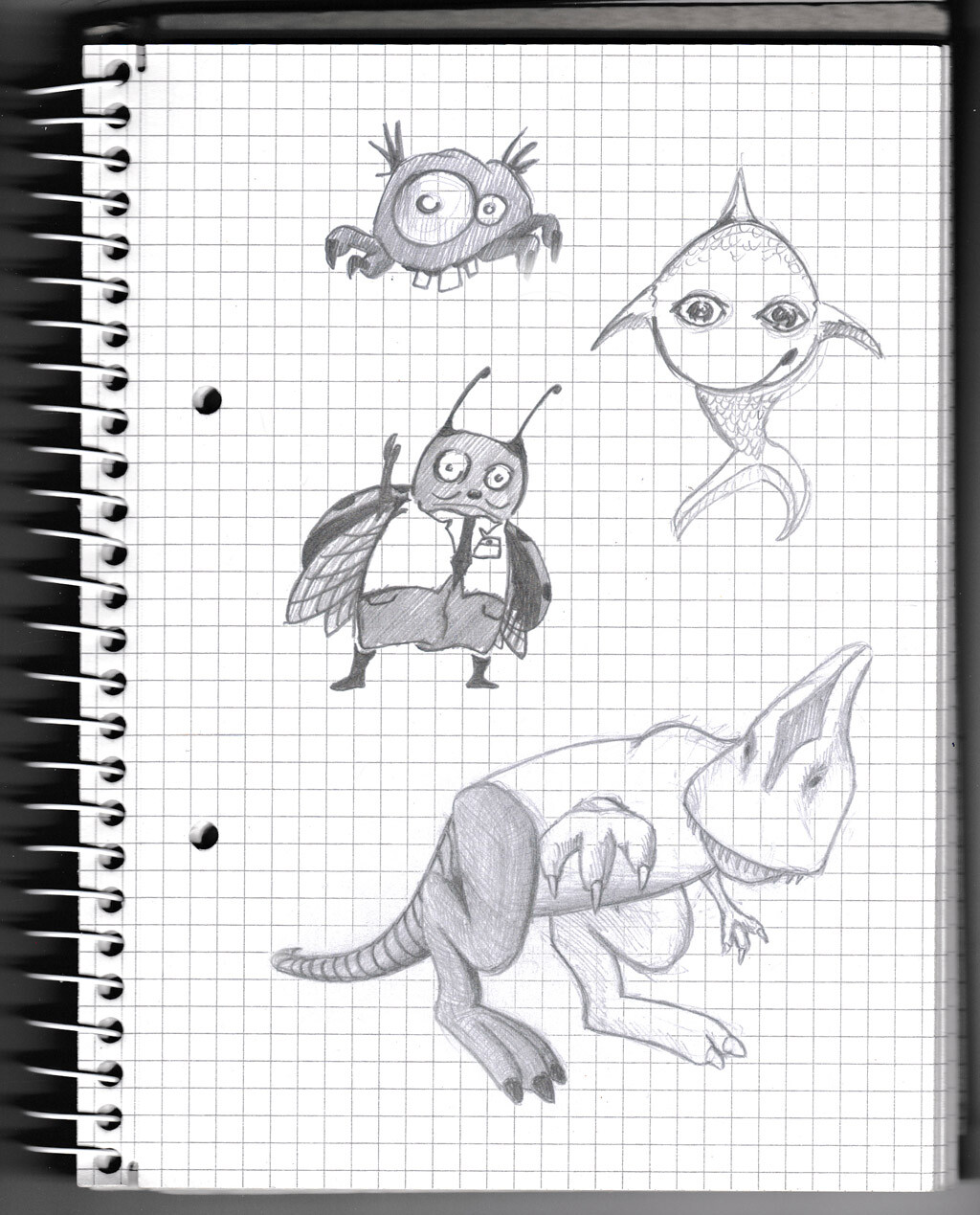character, sketch, pencil, monster, creature,