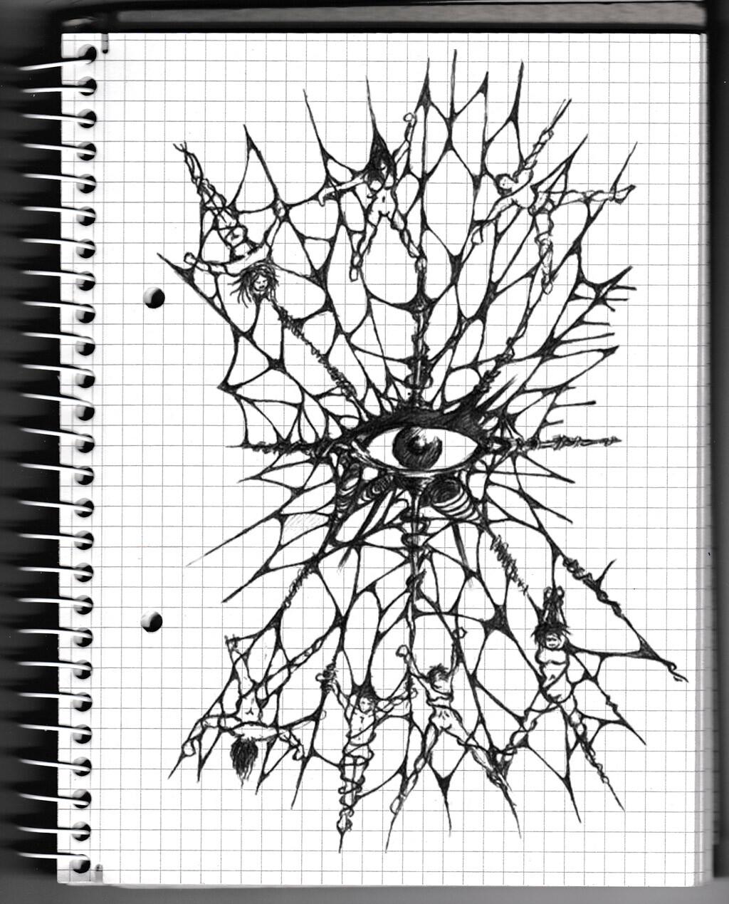 character, sketch, pencil, monster, creature, psychodelic