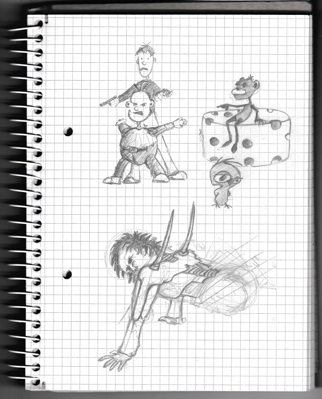 character, sketch, pencil, monster, creature, lads,