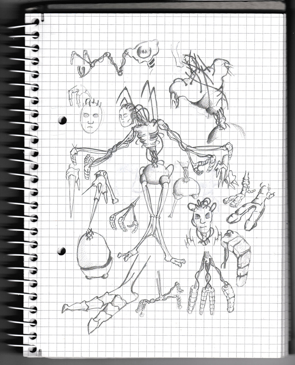 character, sketch, pencil, monster, creature, cyborg, concept,