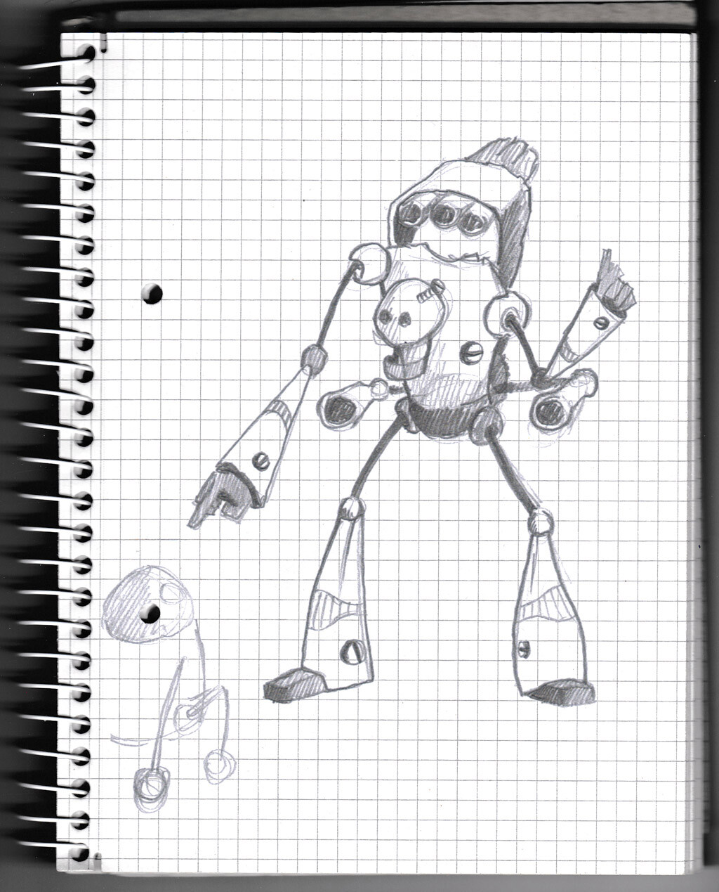 character, sketch, pencil, monster, creature, robot, concept,