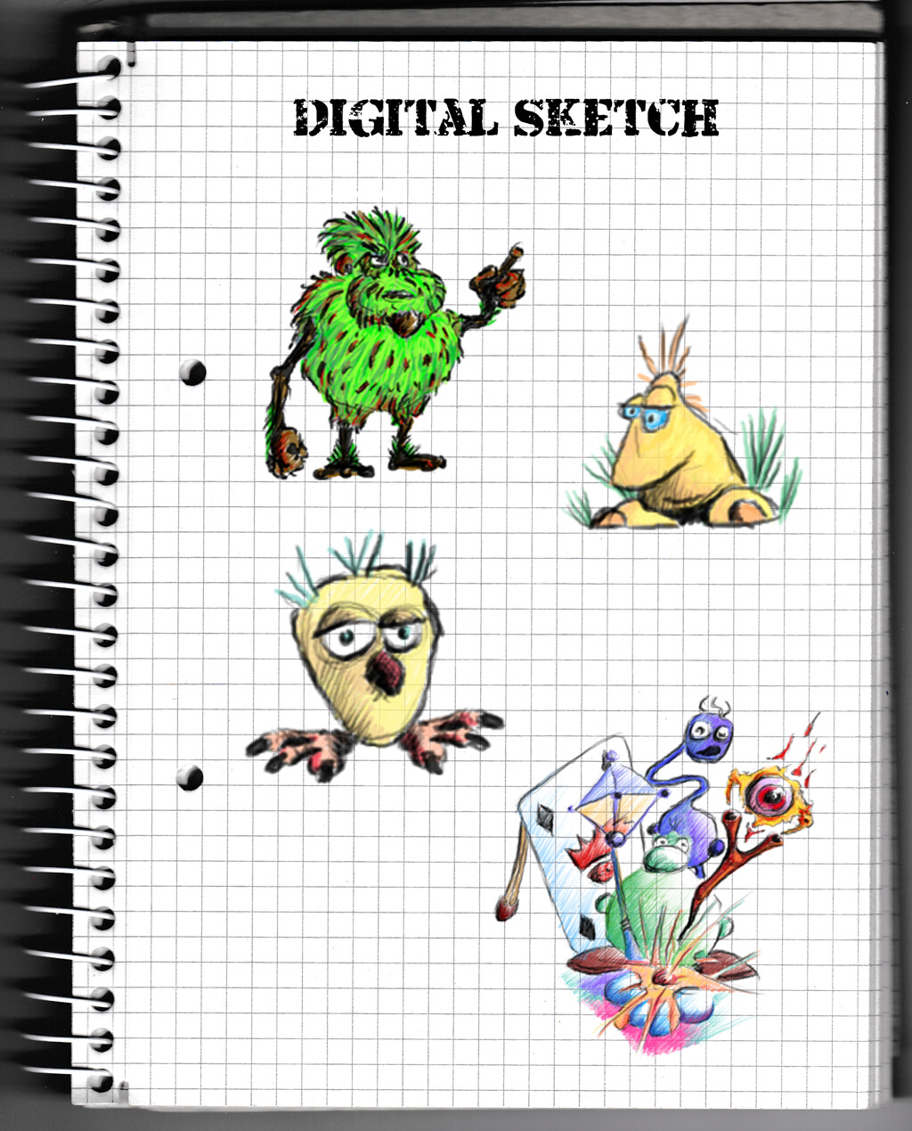 character, concept, colour, wacom, digital, monster, idea,