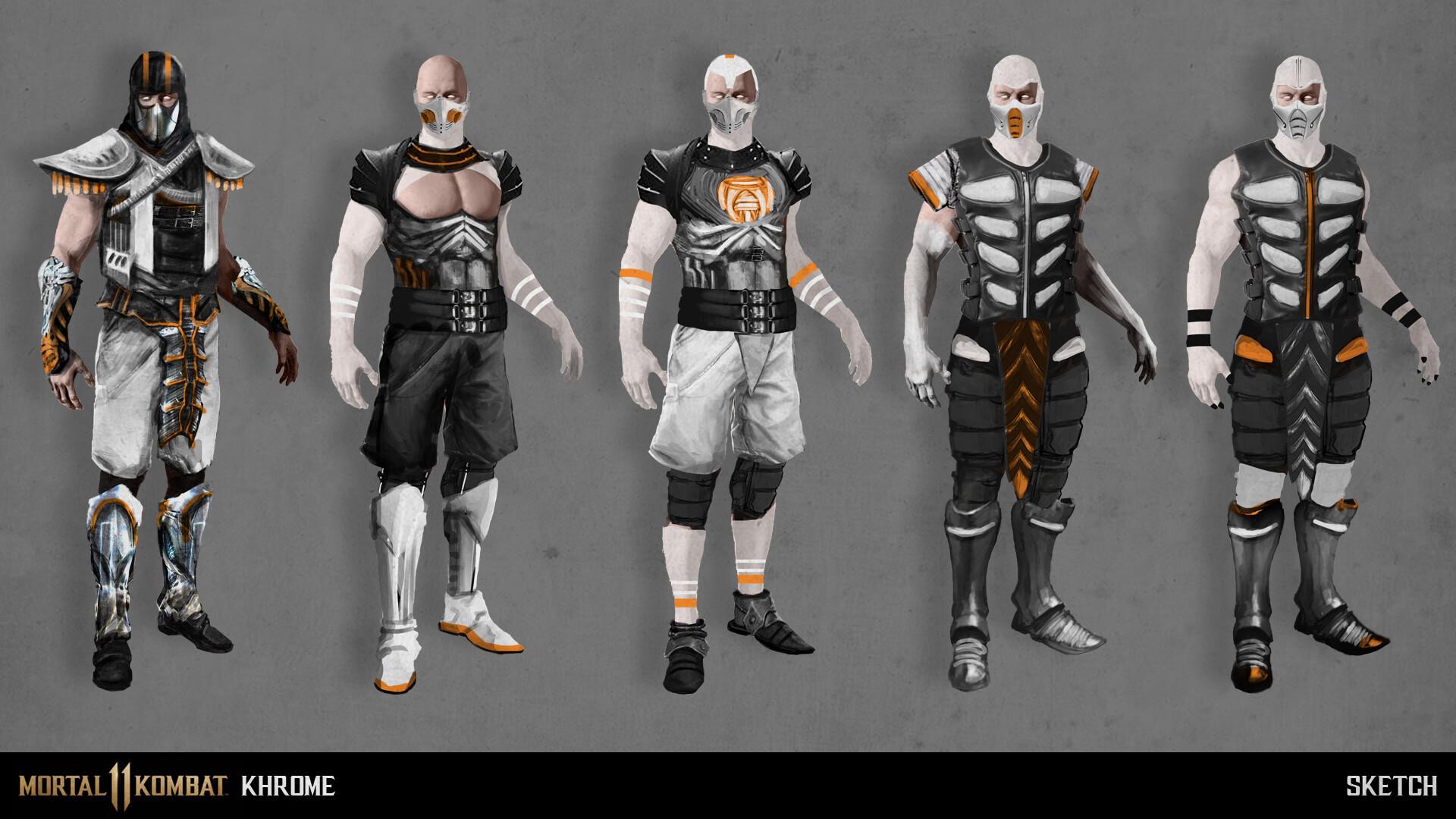 Mortal Kombat 11 character re-design: KHROME PROPOSAL   Test