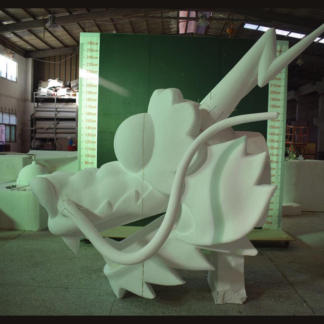 The physical sculpture taking shape at a factory in China