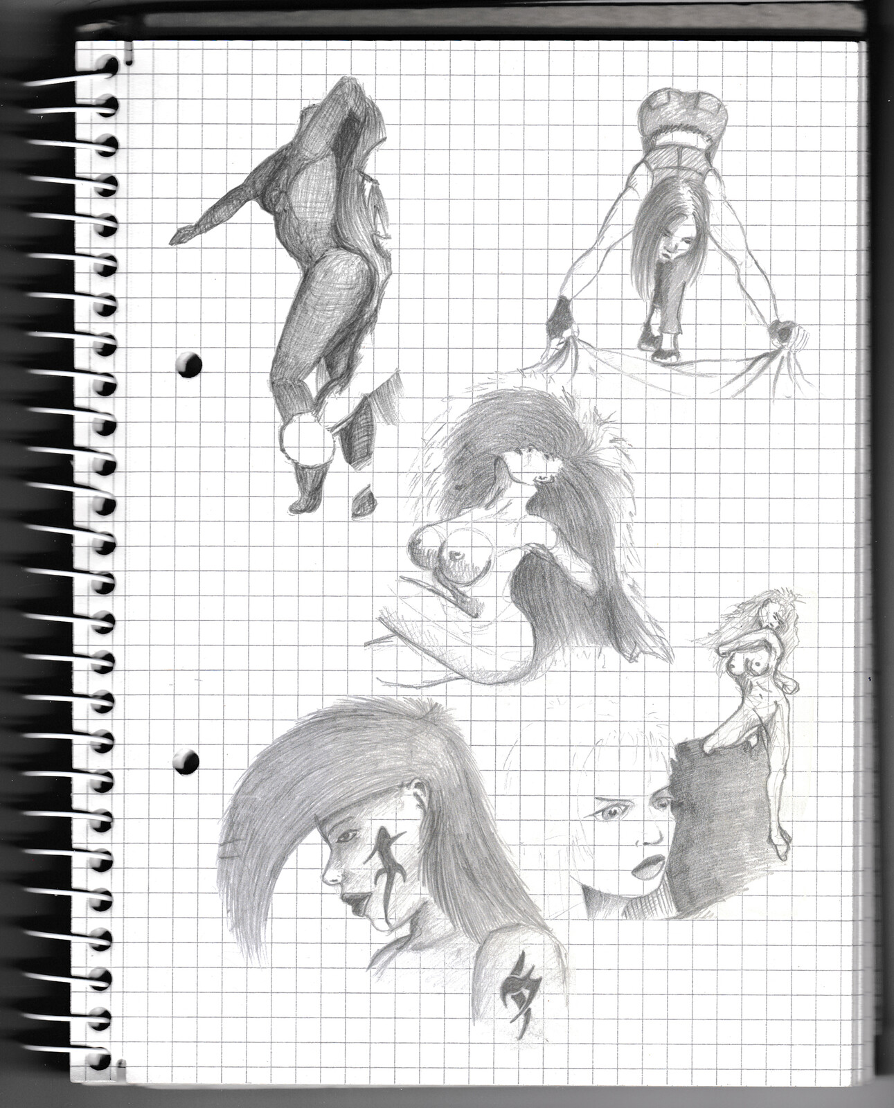 character, sketch, pencil, monster, lady, anatomy,
