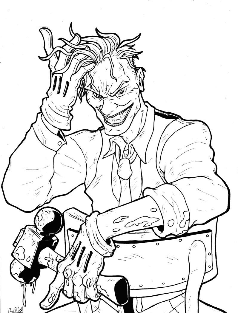 Joker, original sketch by Marvin Law