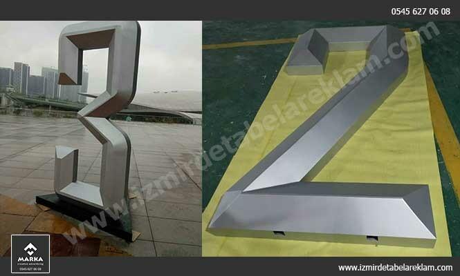 Izmir tabela reklam hizmetleri kutu harf izmir aluminyum tabela