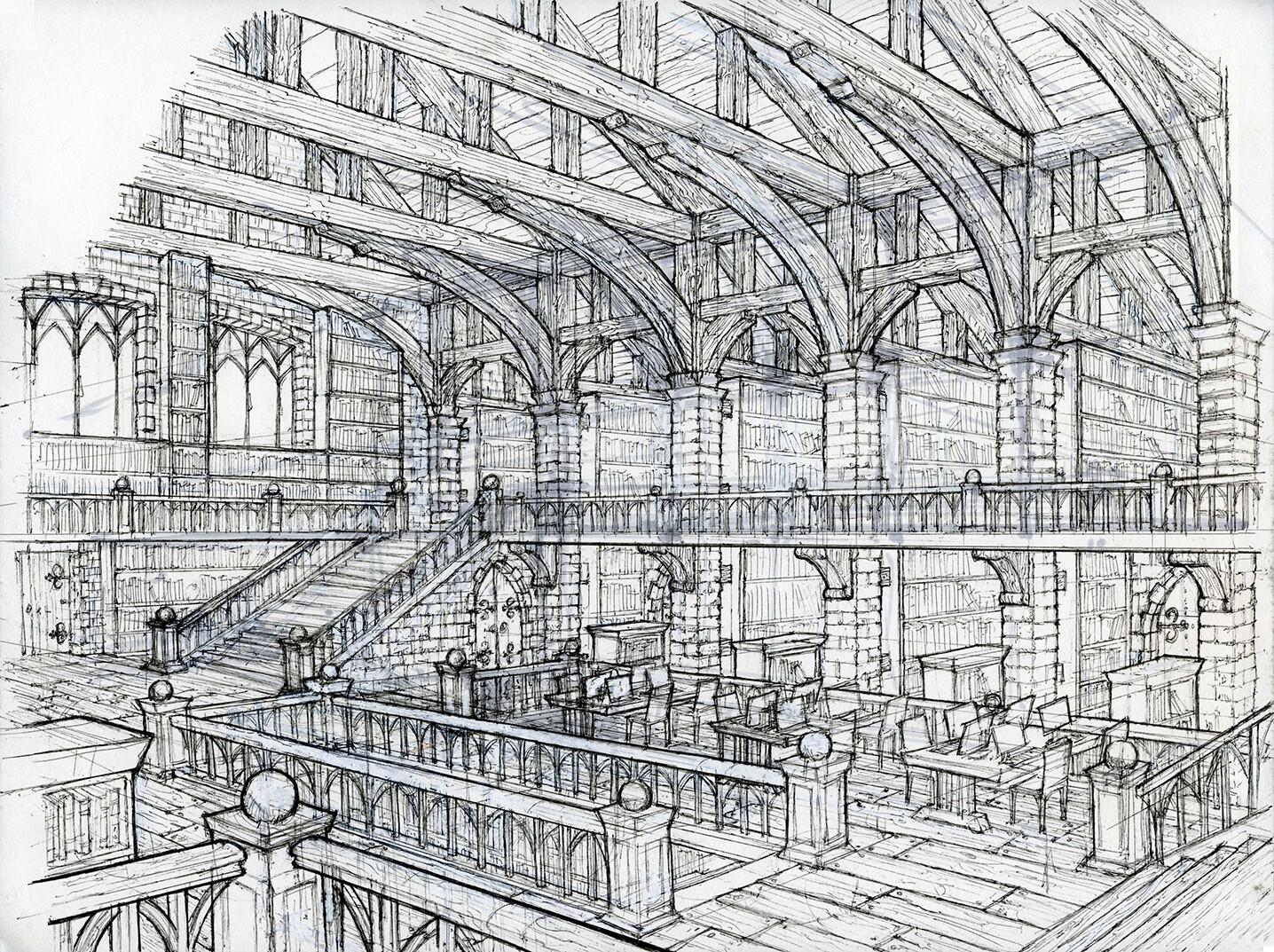 Sherif habashi library interior lores40