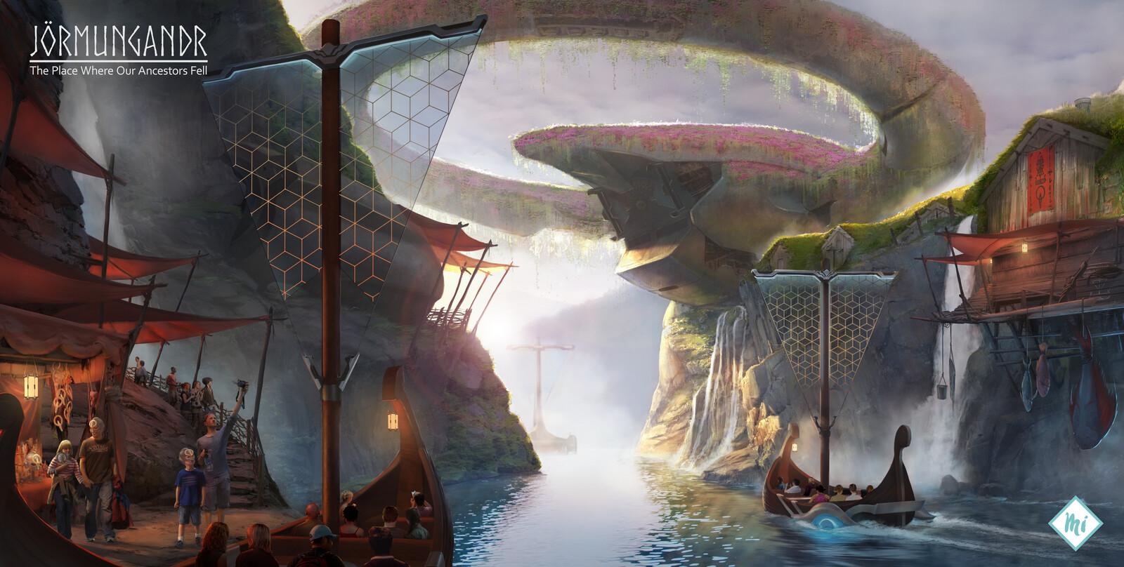 Jörmungandr Project: A Sci-fi Viking Theme Park Concept