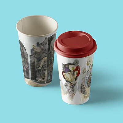 Tami kuo paper hot cup mockup vol9