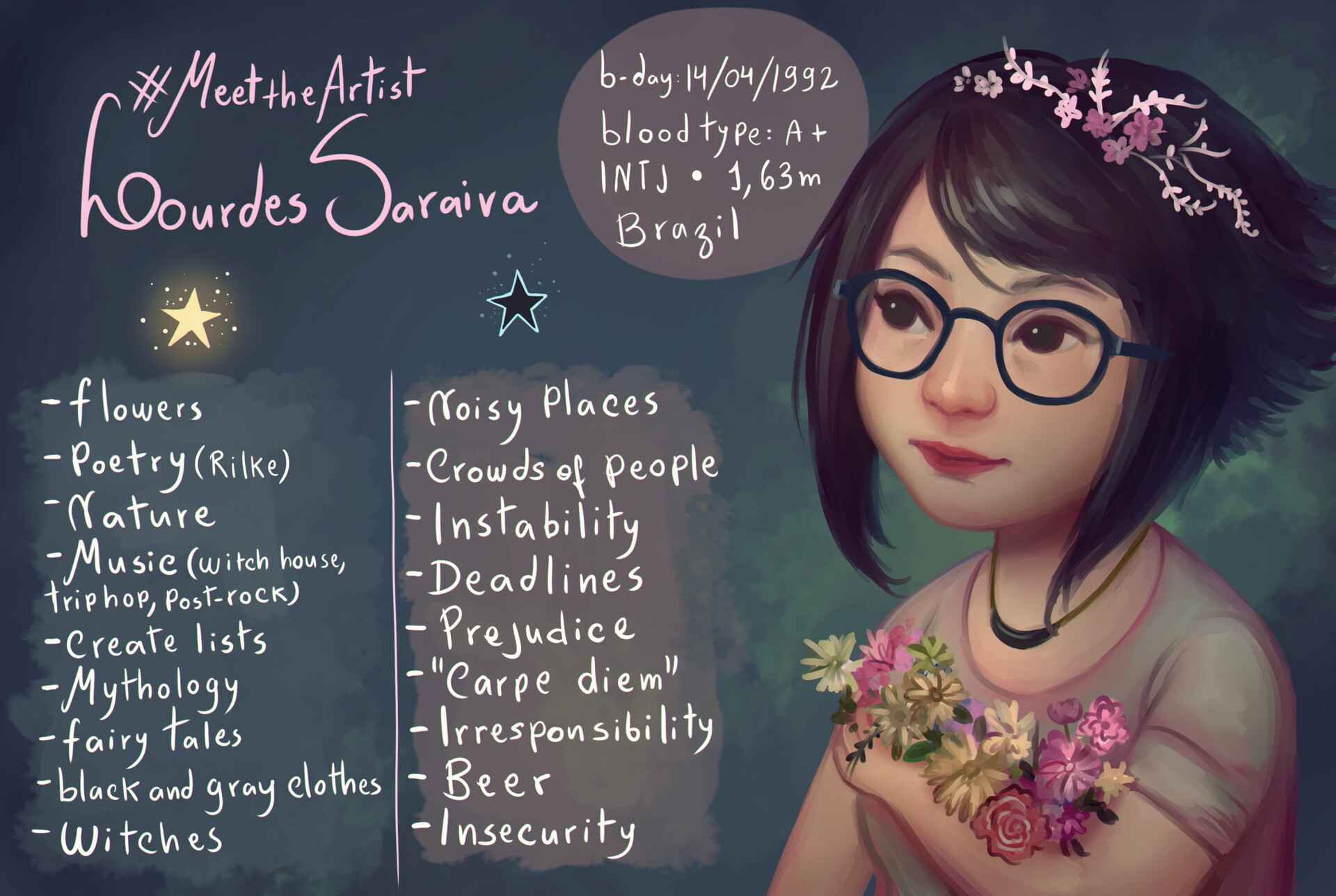 Lourdes saraiva meettheartist by agnes green daxfzv6