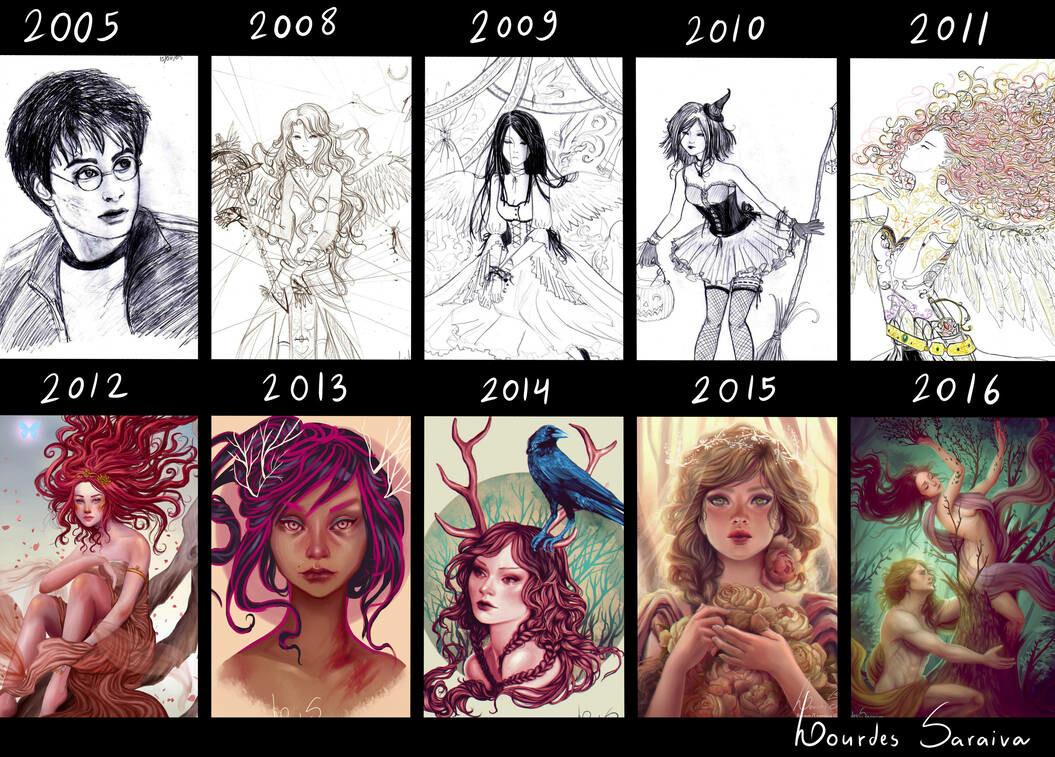 Lourdes saraiva 2005 2016 art timeline by agnes green dayf7ca pre