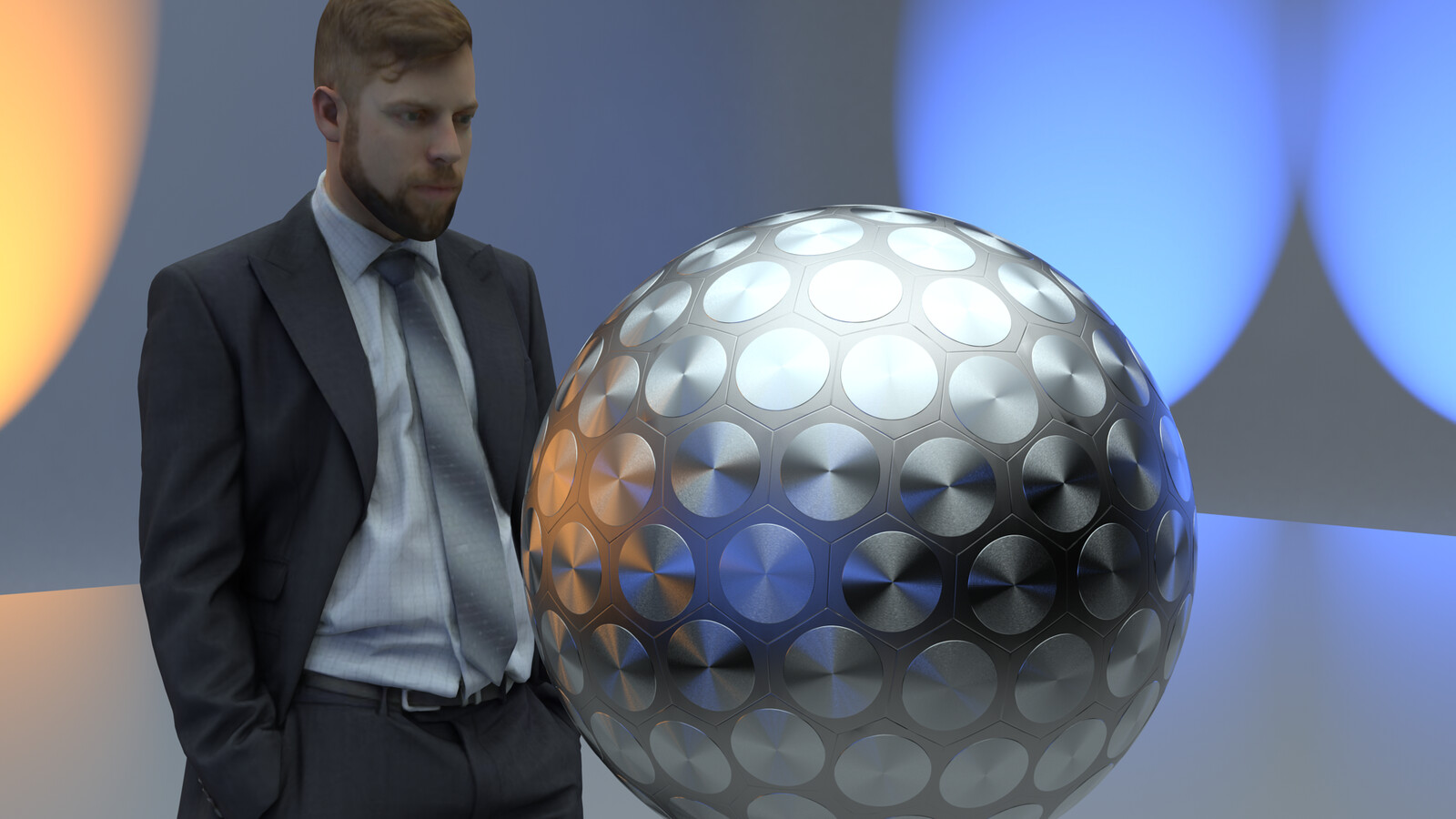 """SU 2016 + Thea Render Bomb-Geodesic Sphere 2 Oct 2016 WIP DPRK """"disco ball"""" miniaturised boosted fission bomb"""