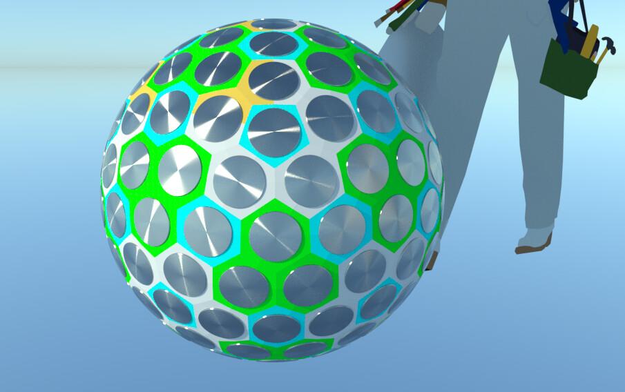 SU 2016 + Thea Render Hexagonal Geodesic bomb test