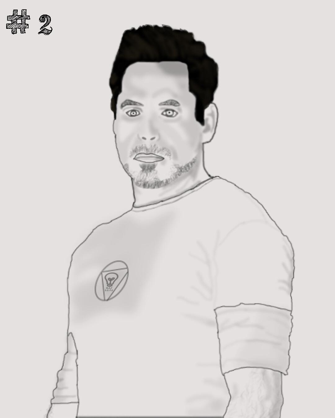 ArtStation - try to draw tony stark but i'm failed, Mohamed