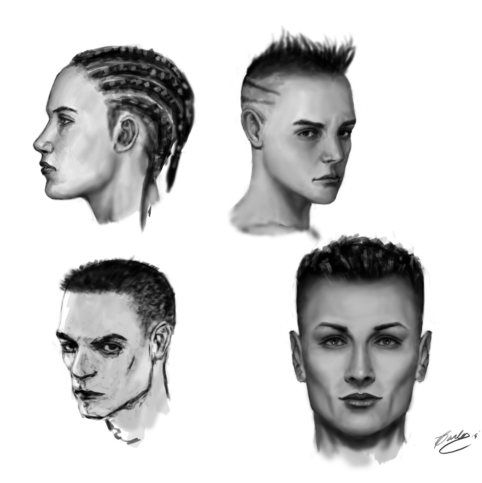 Sketch 2-10-2019: Faces