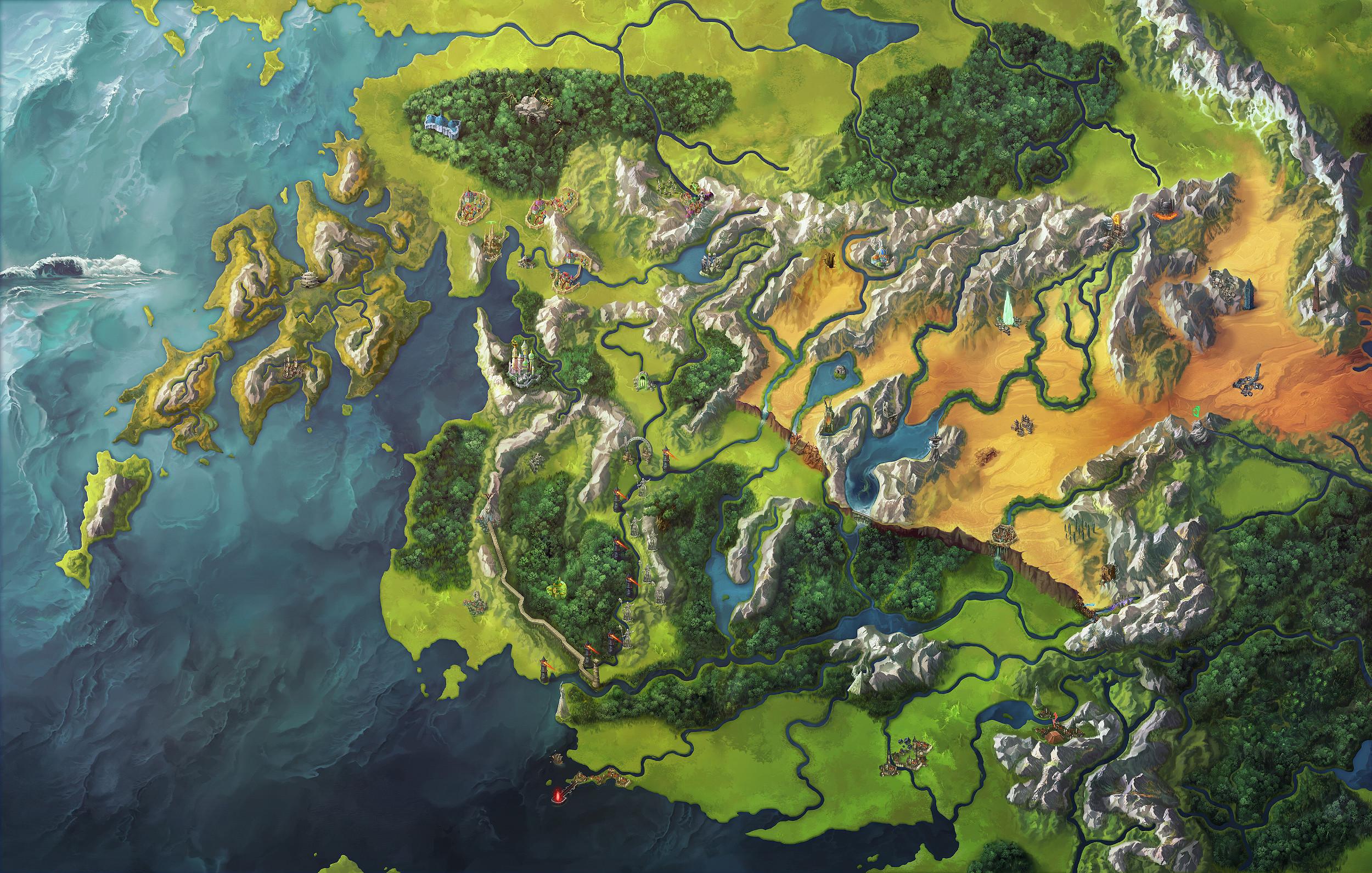 World Map of New Thassilon