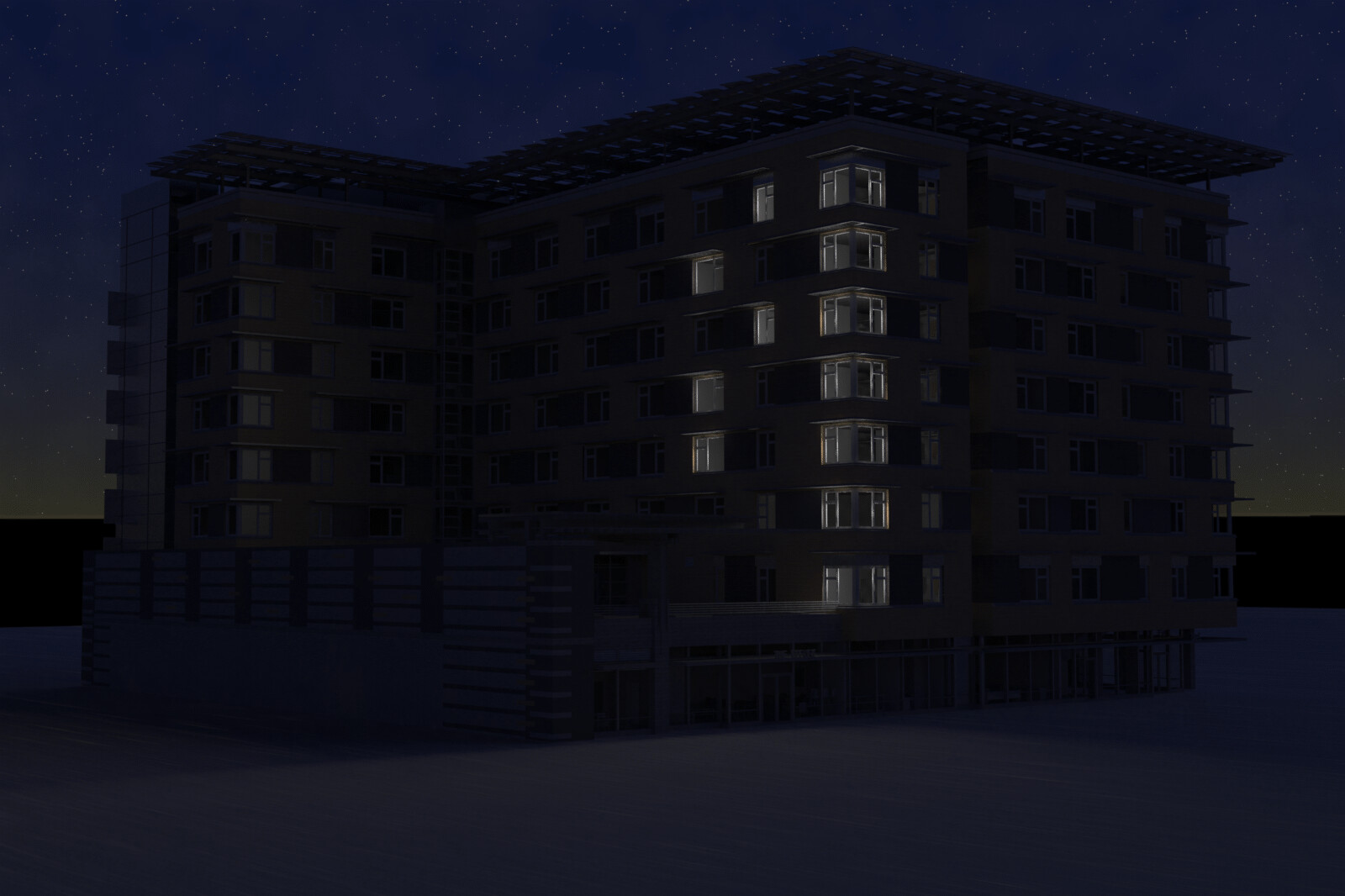 Old work - render project for 7th & H project - this is an exterior of the building.