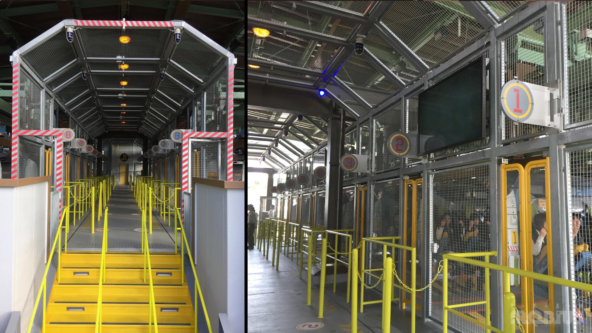 Production Photo of Load Station platform