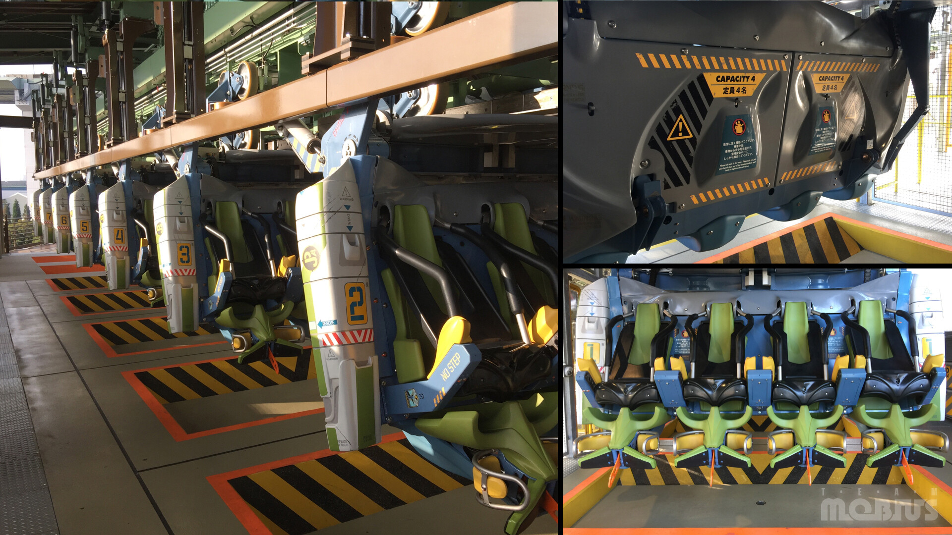Production photo of ride vehicle in-station
