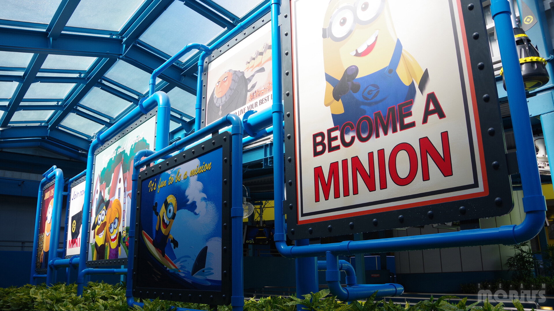Production image of Minion Mayhem queue experience