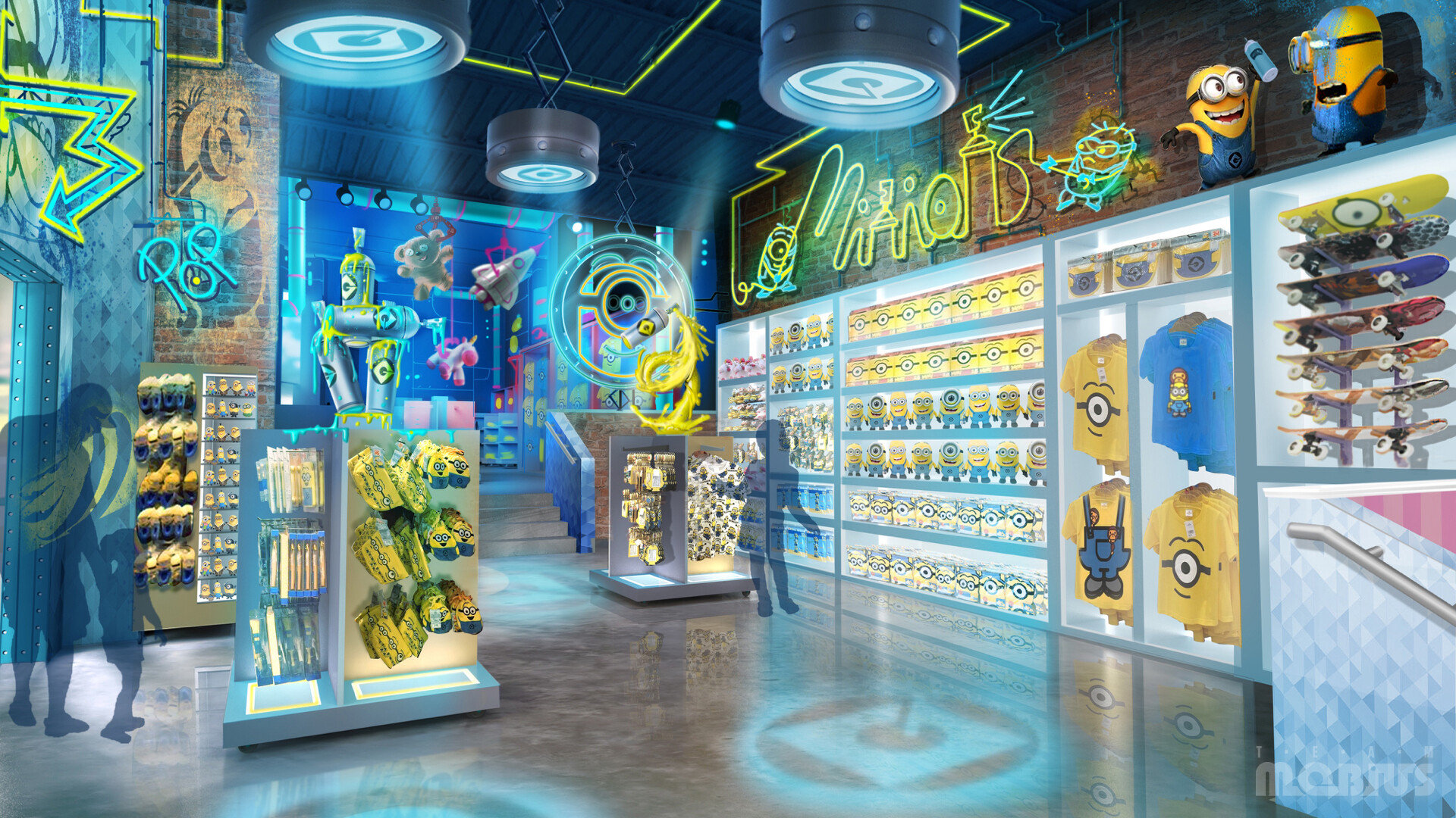 Concept artwork for the interior of the POP retail store
