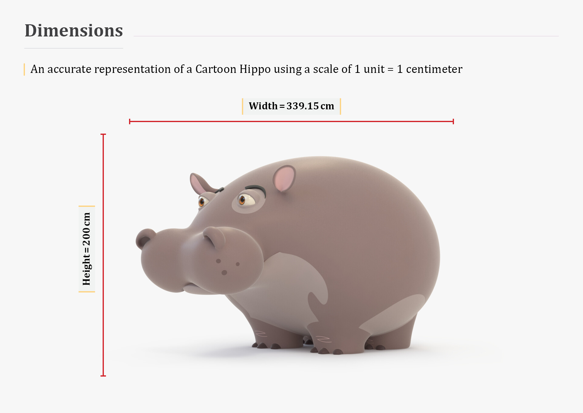 Artstation 3d Stylized Cartoon Hippo 3d Model Algelany Art