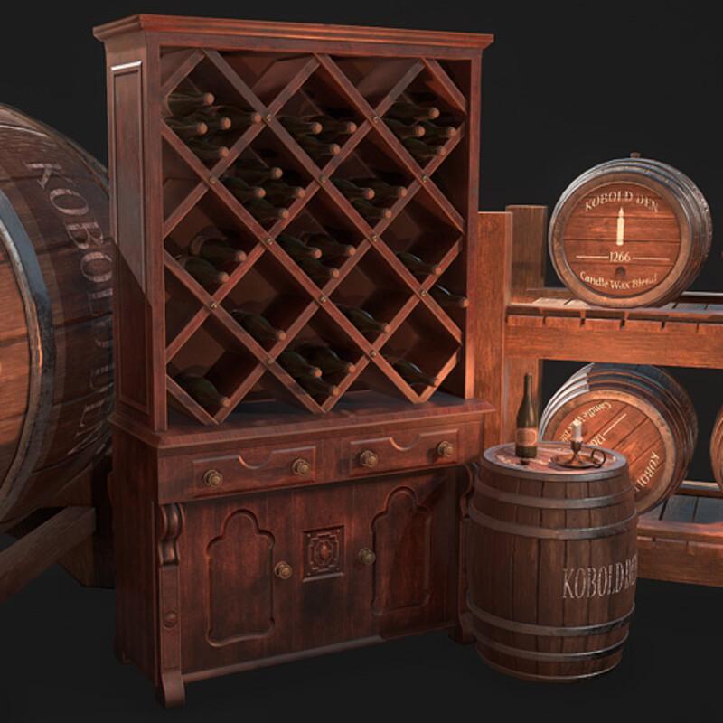 Wine Cellar Props