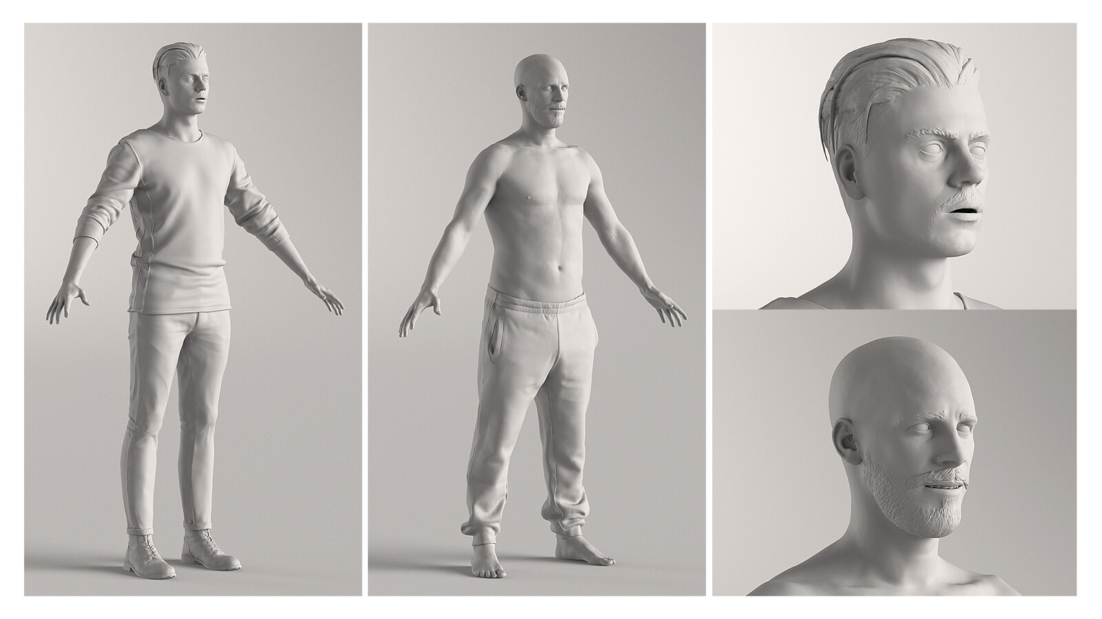 digital actors - high poly