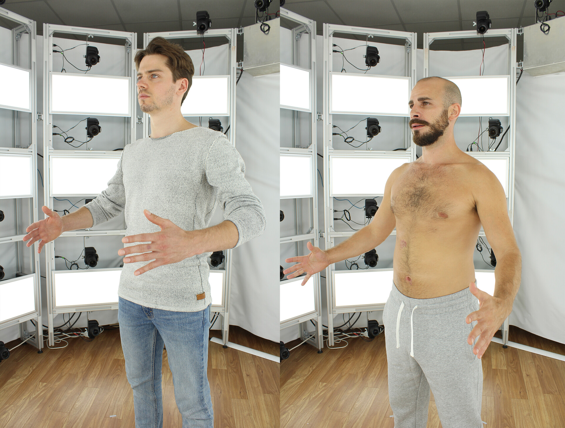 the actors Anthony Paul and Max Allgeier during the fotoscan session
