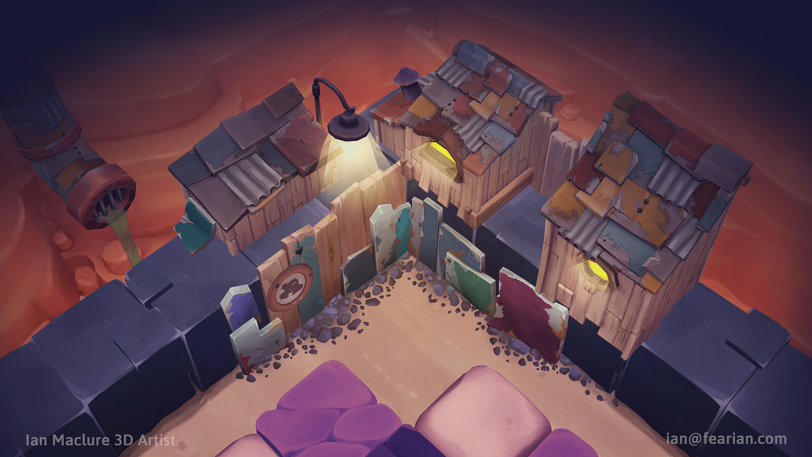 Some Boss assets in a level. Contains art by myself, Robert Procter, Sarah Wright, and shaders by Ryan Webb