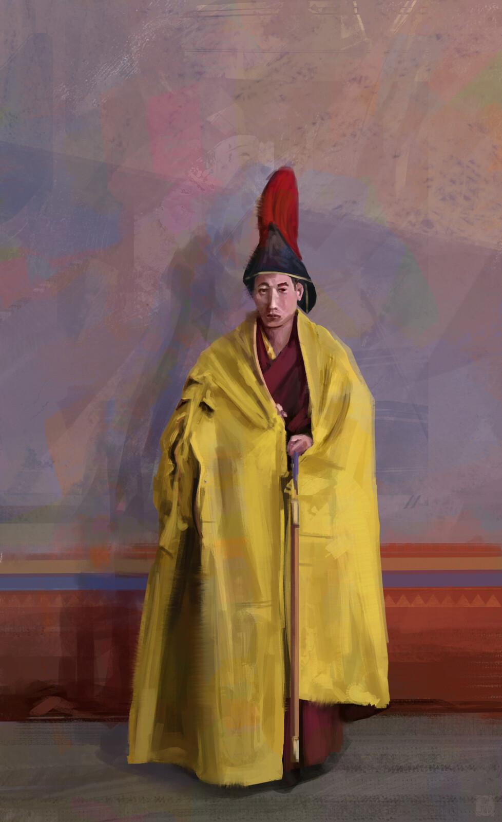 Study painting - Tibetan monk