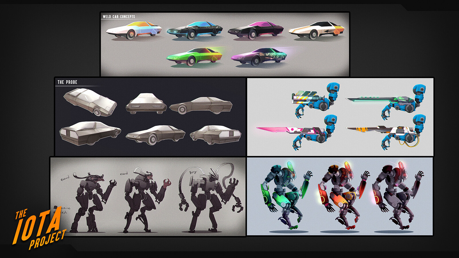 Concepts I produced for our enemies and weapons along with various vehicles