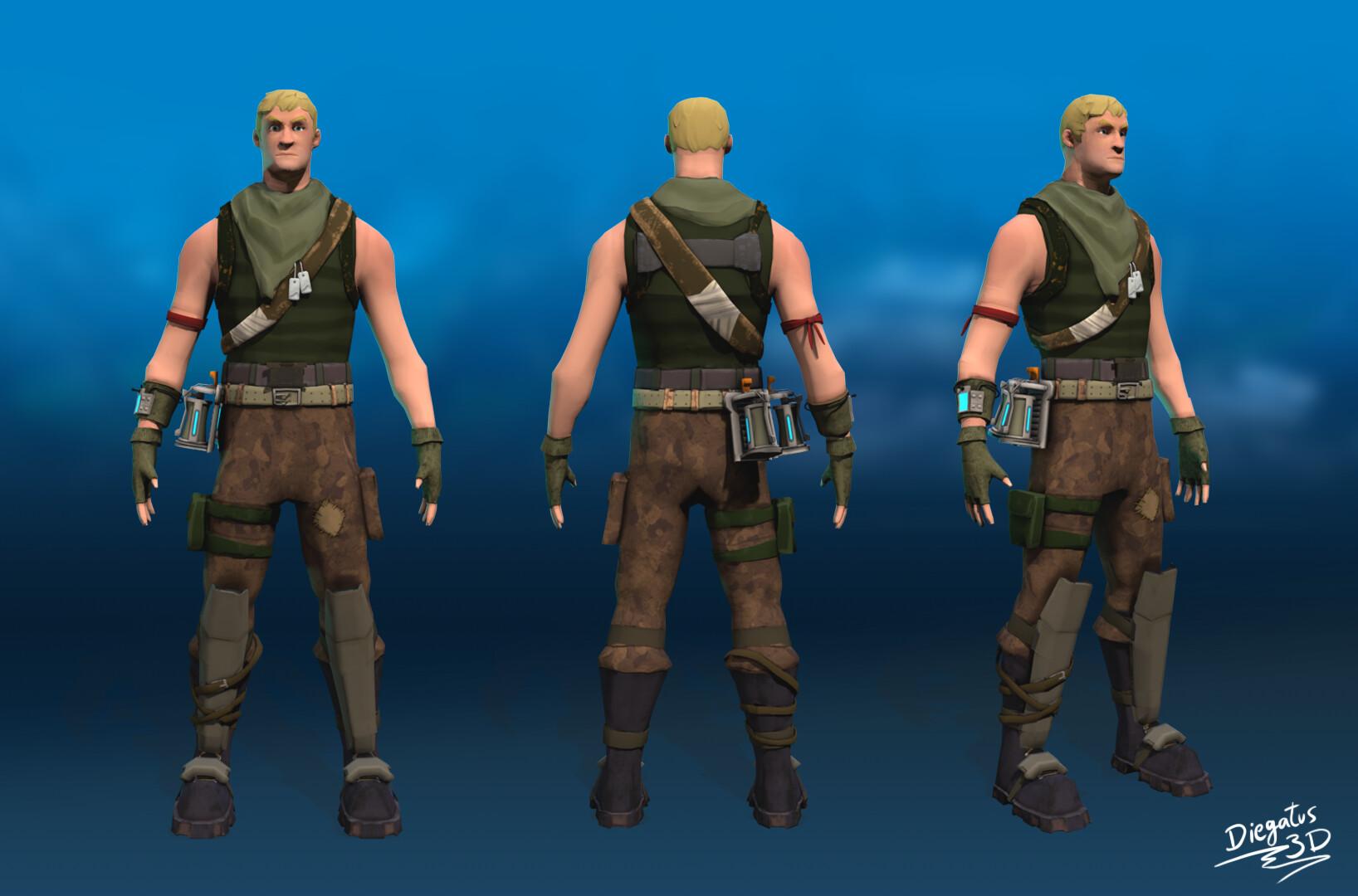 Artstation 3d Fortnite Character Diegatus 3d Diego Valero
