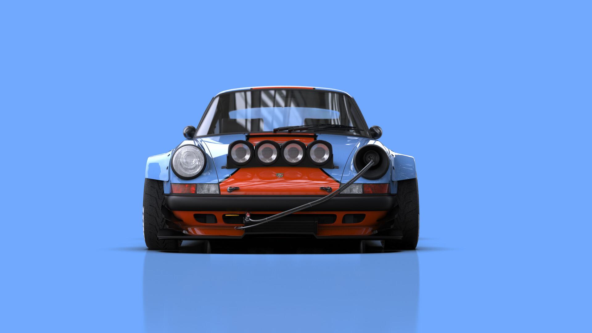 ArtStation - Porsche 911 tuned, Federico Zimbaldi