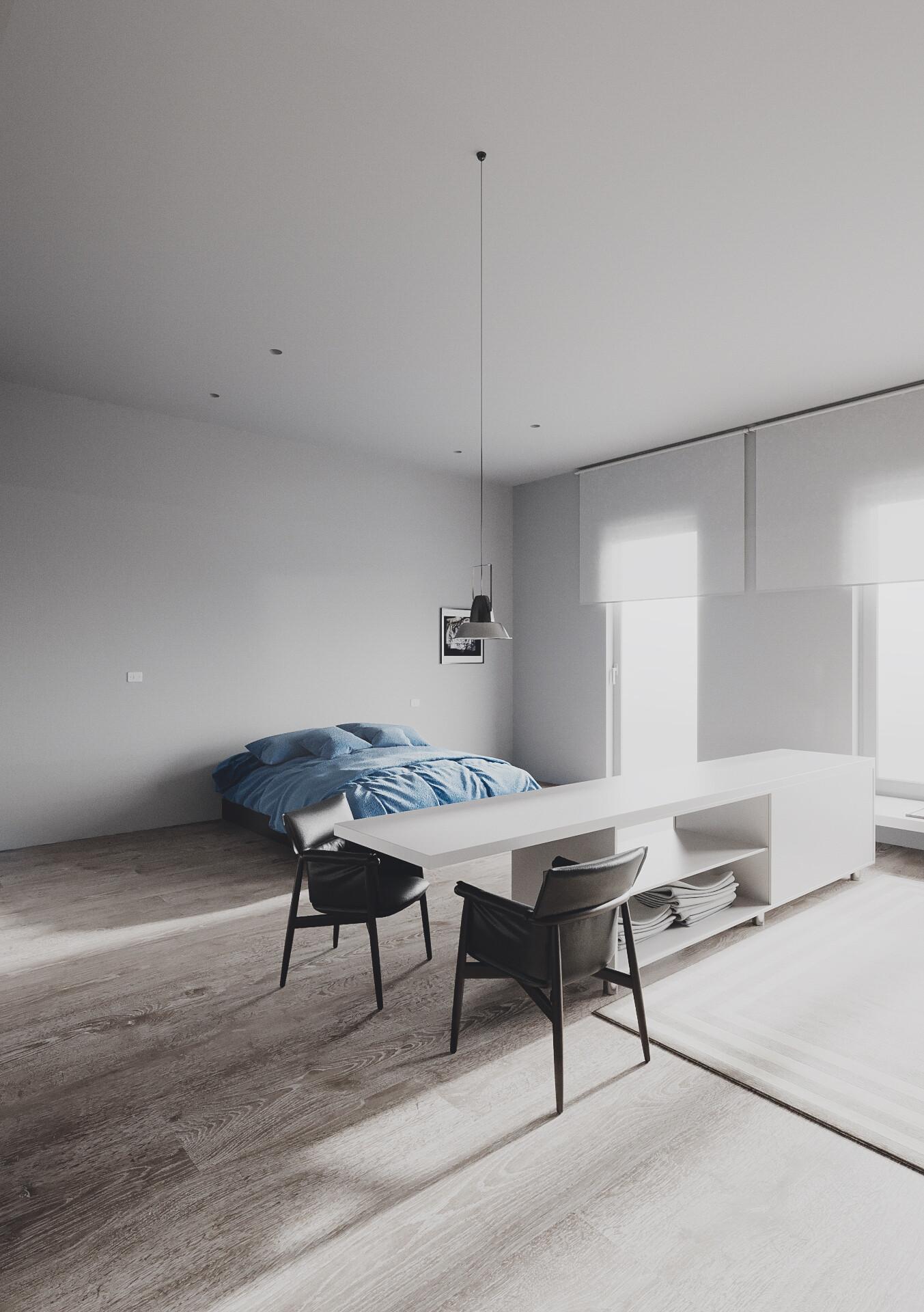 Artstation Minimalist Apartment Marcin Kasperski