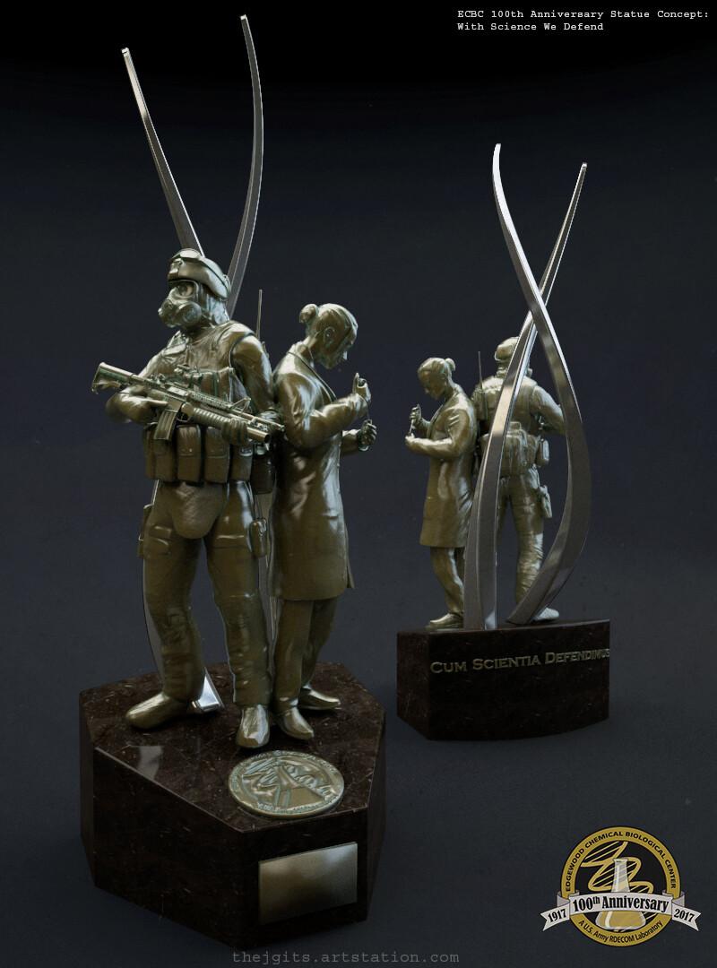 ECBC 100th Anniversary Statue Concepts