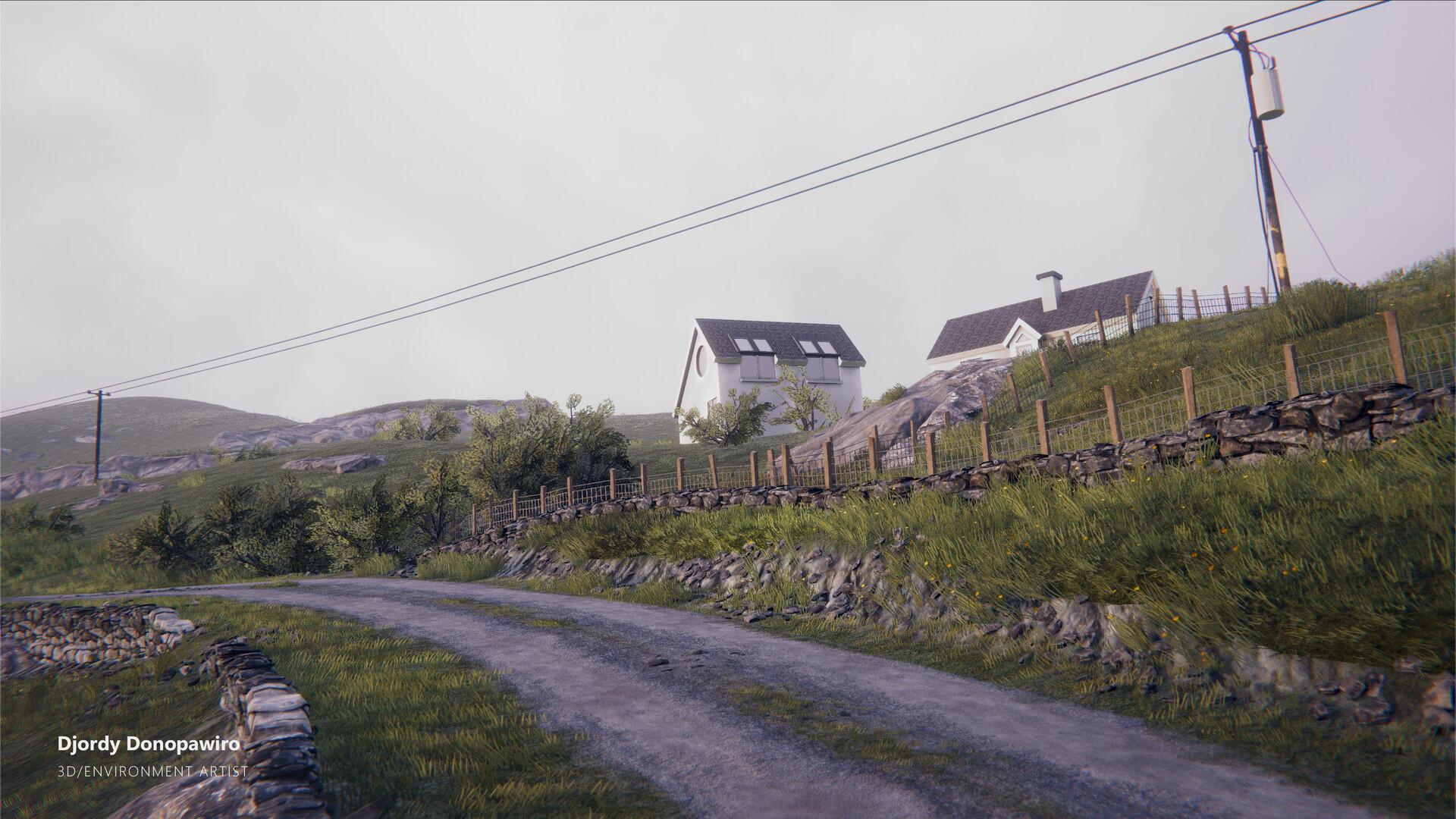 ArtStation - Derryharbor Unity scene, Djordy Donopawiro