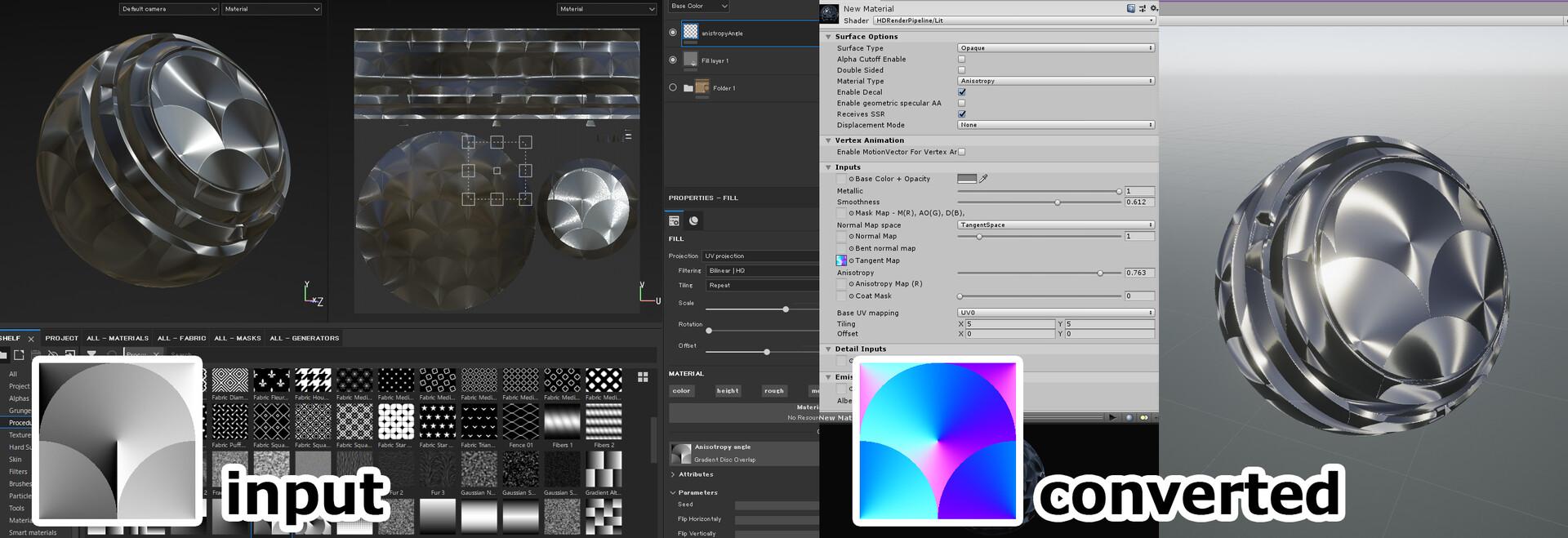 ArtStation - Anisotropy Conversion Generator for Substance Painter