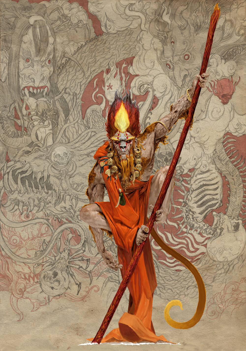 Adrian smith monster demon spirit kani monkey