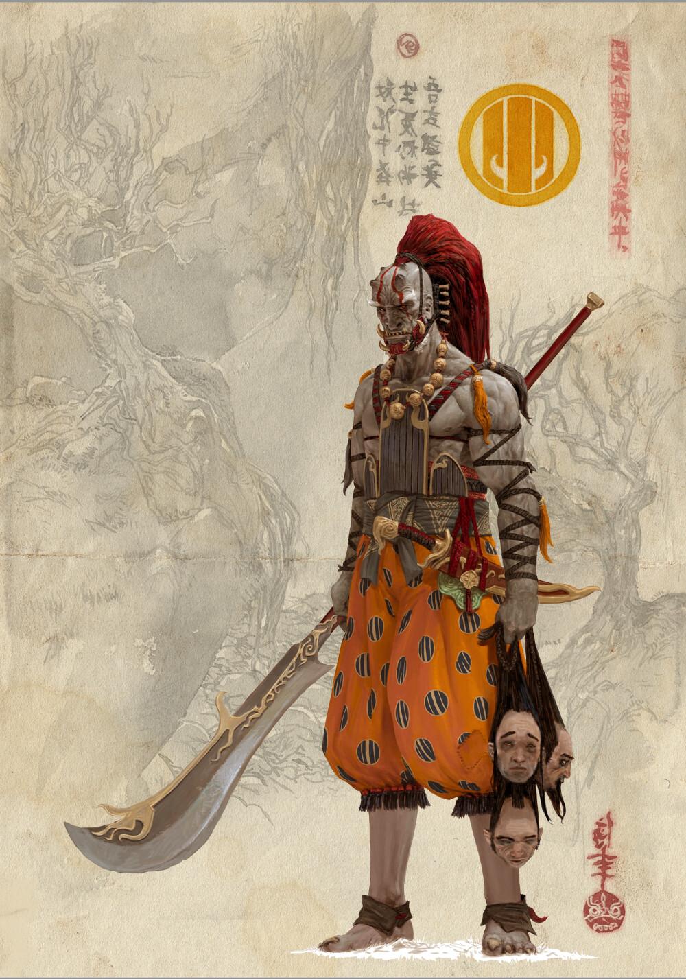 Adrian smith bushi 2 clan6 colour concept