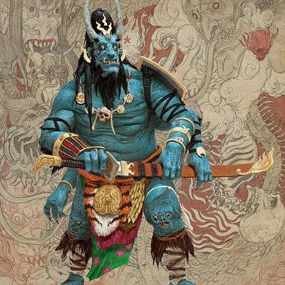 Adrian smith monster demon oni 3