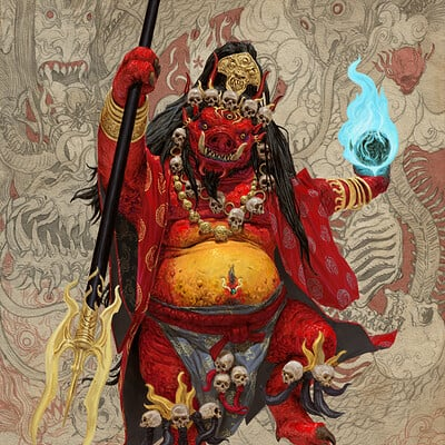 Adrian smith monster demon oni 4