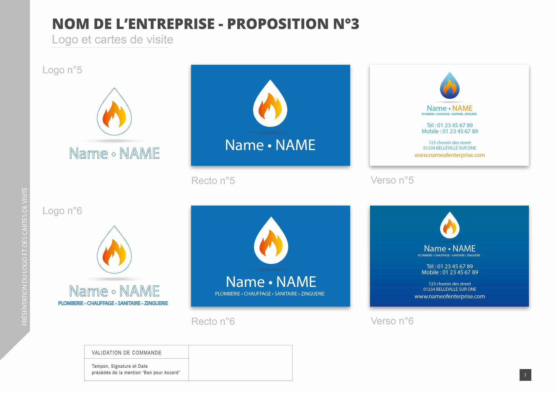 Artstation Logos Cartes De Visite Plomberie Et